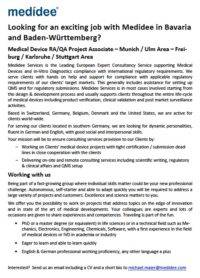 Medidee recruitment- job opportunity- project associate-medidee medical devices- germany