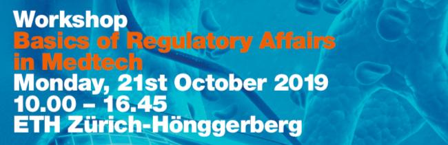 workshop regulatory affairs zurich