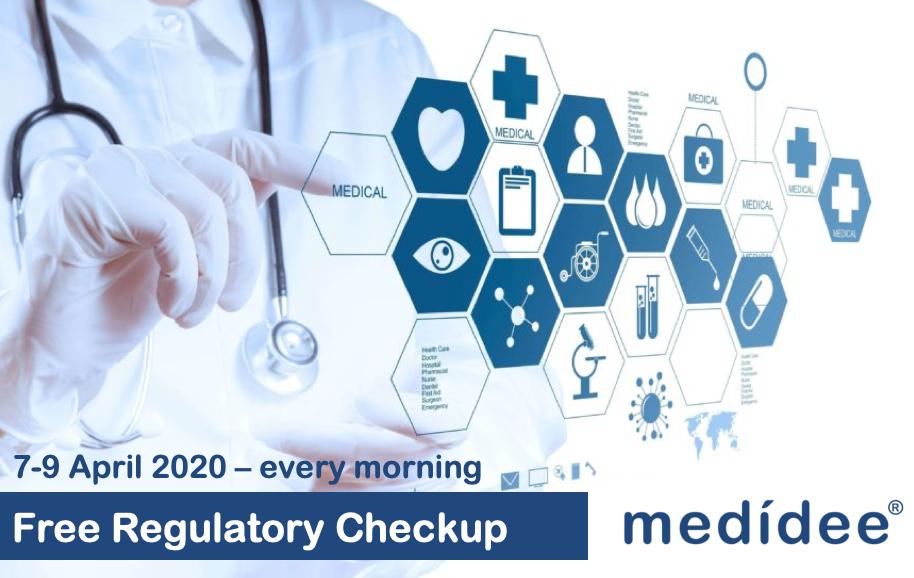 free regulatory affairs check-up belgium